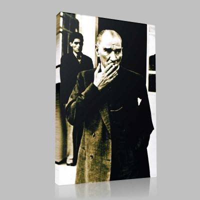 Siyah Beyaz Atatürk Resimleri  111 Kanvas Tablo