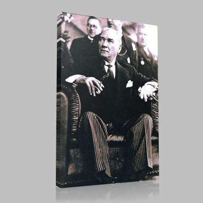 Siyah Beyaz Atatürk Resimleri  112 Kanvas Tablo