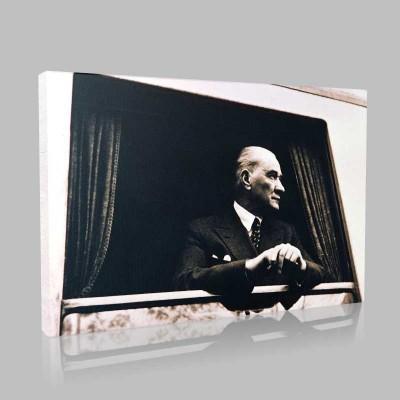 Siyah Beyaz Atatürk Resimleri  113 Kanvas Tablo