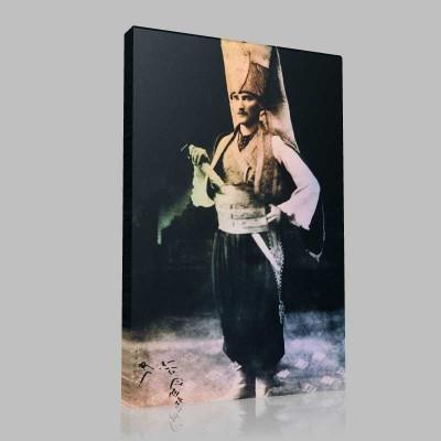 Siyah Beyaz Atatürk Resimleri  114 Kanvas Tablo