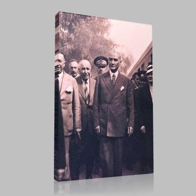 Siyah Beyaz Atatürk Resimleri  115 Kanvas Tablo
