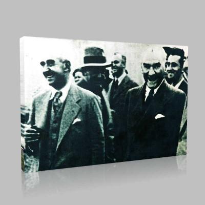Siyah Beyaz Atatürk Resimleri  116 Kanvas Tablo