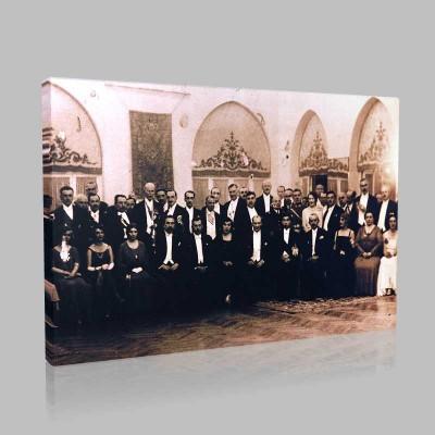 Siyah Beyaz Atatürk Resimleri  117 Kanvas Tablo