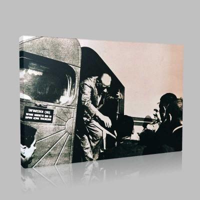 Siyah Beyaz Atatürk Resimleri  119 Kanvas Tablo