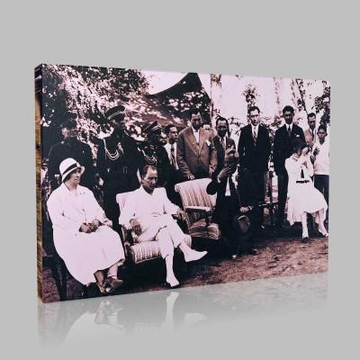 Siyah Beyaz Atatürk Resimleri  124 Kanvas Tablo