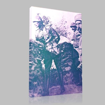 Siyah Beyaz Atatürk Resimleri  125 Kanvas Tablo