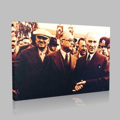 Siyah Beyaz Atatürk Resimleri  126 Kanvas Tablo