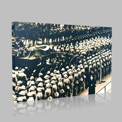 Siyah Beyaz Atatürk Resimleri  129 Kanvas Tablo