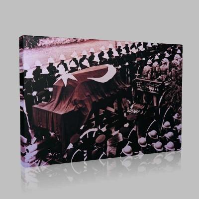 Siyah Beyaz Atatürk Resimleri  130 Kanvas Tablo