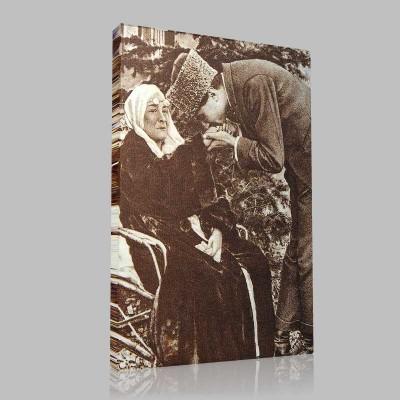 Siyah Beyaz Atatürk Resimleri  131 Kanvas Tablo