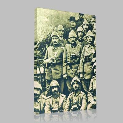 Siyah Beyaz Atatürk Resimleri  132 Kanvas Tablo