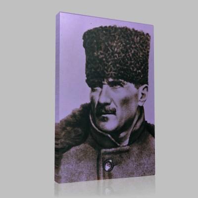 Siyah Beyaz Atatürk Resimleri  133 Kanvas Tablo