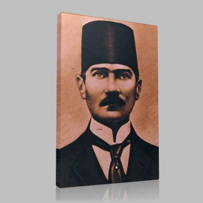 Siyah Beyaz Atatürk Resimleri  134 Kanvas Tablo