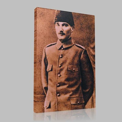 Siyah Beyaz Atatürk Resimleri  135 Kanvas Tablo