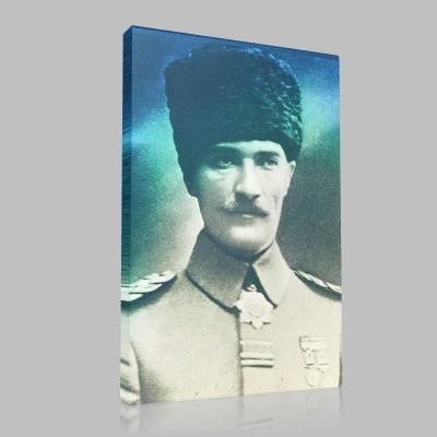 Siyah Beyaz Atatürk Resimleri  136 Kanvas Tablo