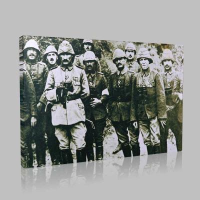 Siyah Beyaz Atatürk Resimleri  137 Kanvas Tablo