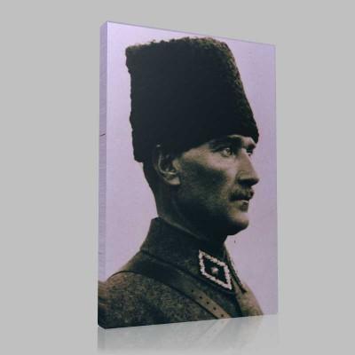 Siyah Beyaz Atatürk Resimleri  138 Kanvas Tablo