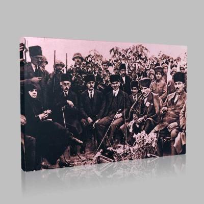 Siyah Beyaz Atatürk Resimleri  14 Kanvas Tablo