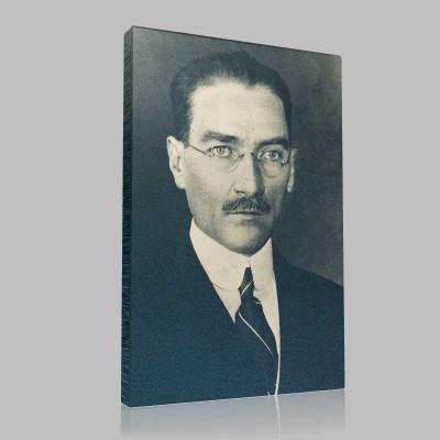 Siyah Beyaz Atatürk Resimleri  140 Kanvas Tablo