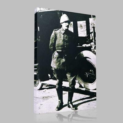 Siyah Beyaz Atatürk Resimleri  142 Kanvas Tablo
