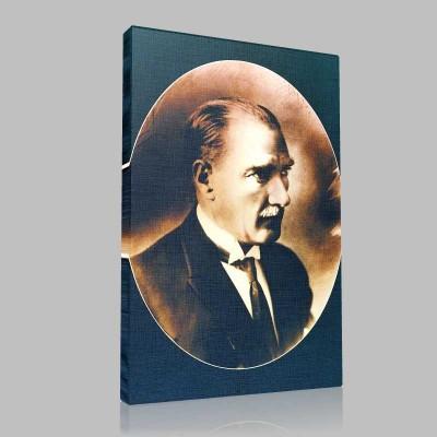 Siyah Beyaz Atatürk Resimleri  143 Kanvas Tablo