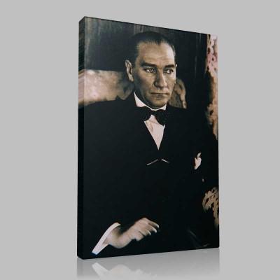 Siyah Beyaz Atatürk Resimleri  144 Kanvas Tablo