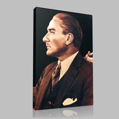 Siyah Beyaz Atatürk Resimleri  145 Kanvas Tablo