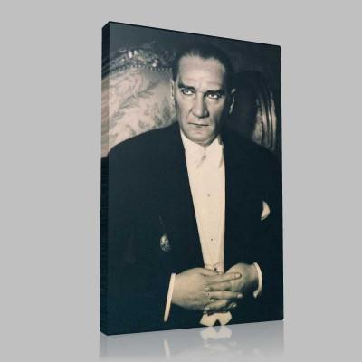 Siyah Beyaz Atatürk Resimleri  146 Kanvas Tablo