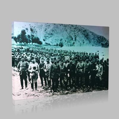 Siyah Beyaz Atatürk Resimleri  147 Kanvas Tablo