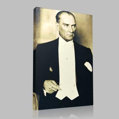 Siyah Beyaz Atatürk Resimleri  148 Kanvas Tablo