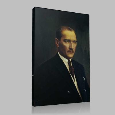 Siyah Beyaz Atatürk Resimleri  149 Kanvas Tablo