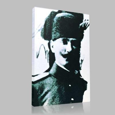Siyah Beyaz Atatürk Resimleri  15 Kanvas Tablo