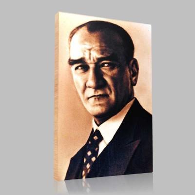 Siyah Beyaz Atatürk Resimleri  151 Kanvas Tablo