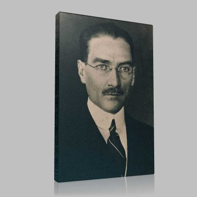 Siyah Beyaz Atatürk Resimleri  152 Kanvas Tablo