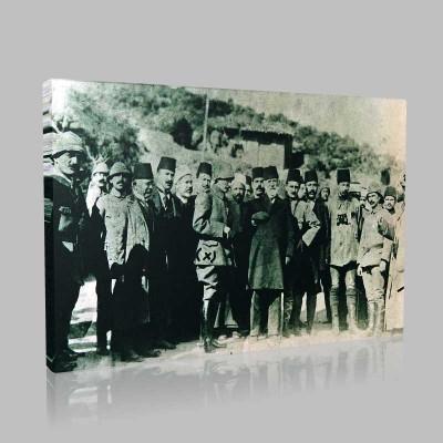 Siyah Beyaz Atatürk Resimleri  153 Kanvas Tablo