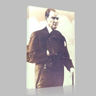 Siyah Beyaz Atatürk Resimleri  154 Kanvas Tablo