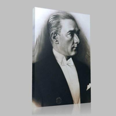 Siyah Beyaz Atatürk Resimleri  155 Kanvas Tablo
