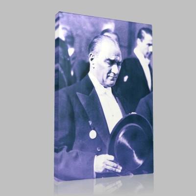 Siyah Beyaz Atatürk Resimleri  156 Kanvas Tablo