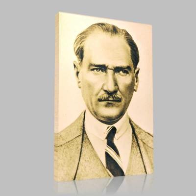 Siyah Beyaz Atatürk Resimleri  157 Kanvas Tablo