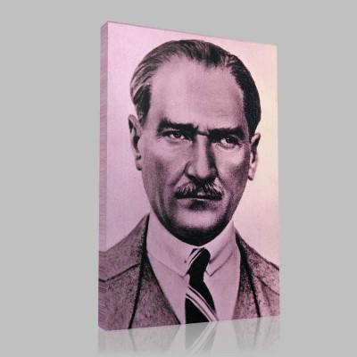 Siyah Beyaz Atatürk Resimleri  158 Kanvas Tablo