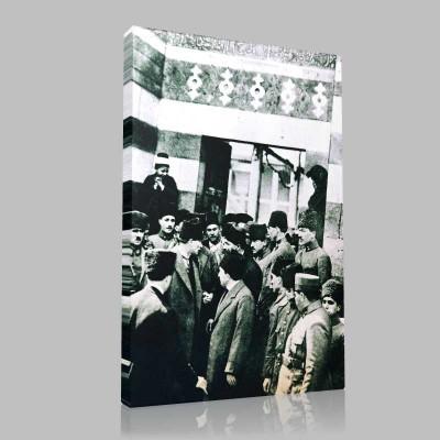 Siyah Beyaz Atatürk Resimleri  16 Kanvas Tablo
