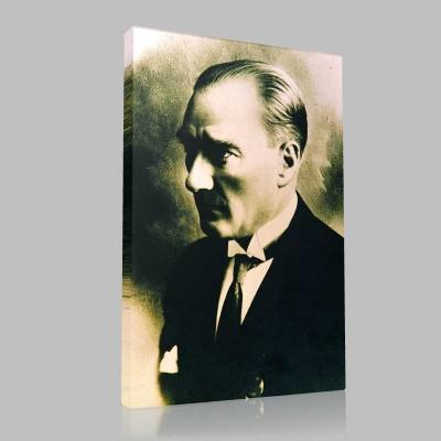 Siyah Beyaz Atatürk Resimleri  161 Kanvas Tablo