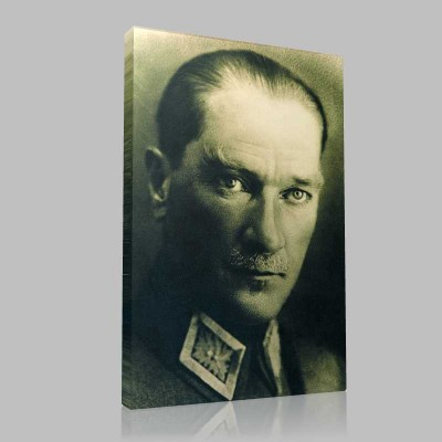 Siyah Beyaz Atatürk Resimleri  162 Kanvas Tablo