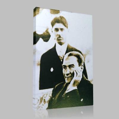 Siyah Beyaz Atatürk Resimleri  163 Kanvas Tablo