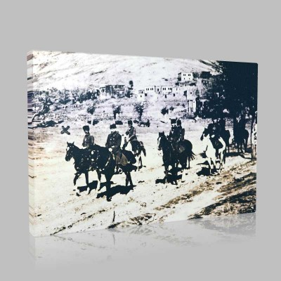 Siyah Beyaz Atatürk Resimleri  165 Kanvas Tablo