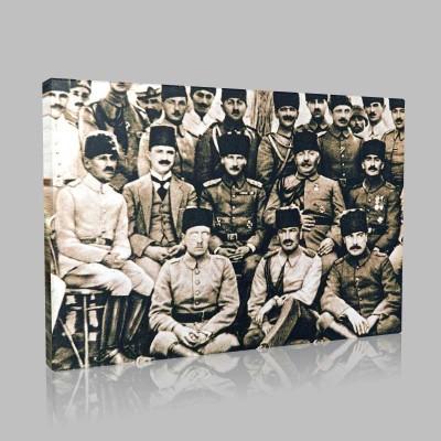 Siyah Beyaz Atatürk Resimleri  166 Kanvas Tablo