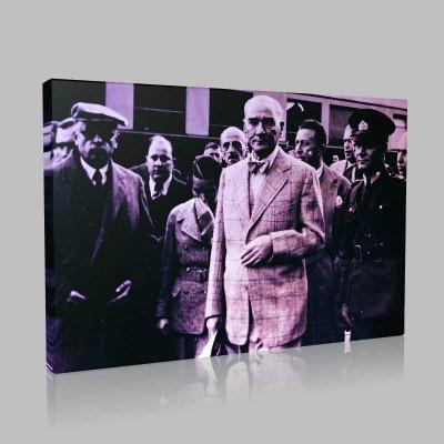 Siyah Beyaz Atatürk Resimleri  167 Kanvas Tablo