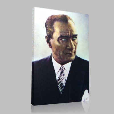 Siyah Beyaz Atatürk Resimleri  168 Kanvas Tablo