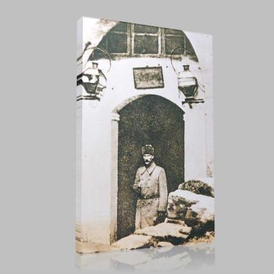 Siyah Beyaz Atatürk Resimleri  169 Kanvas Tablo