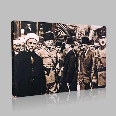 Siyah Beyaz Atatürk Resimleri  17 Kanvas Tablo